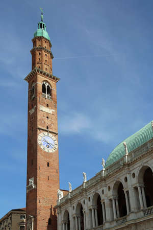 Vicenza Italy Main monument of city called Basilica Palladina with high medieval tower