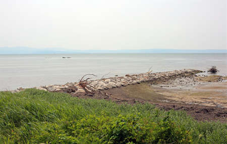 The Gulf of Trieste in Italy a lagoon with brackish water and the adriatic sea Фото со стока