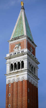 Venice Italy Bell Tower called Campanile di San Marco in Italian language symbol of the island Stock Photo