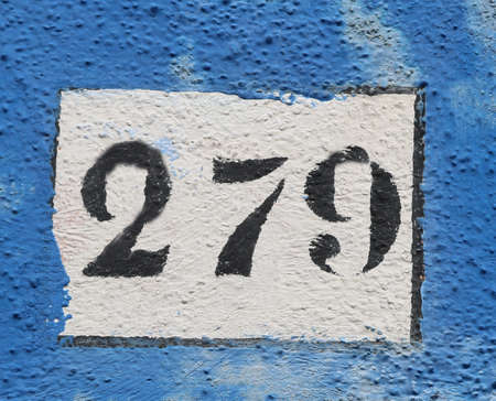 black big Text with number 279 on the wall