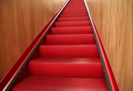 red sliding scale at mall center Stock Photo