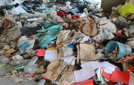 garbage and many things on the migrants shelter