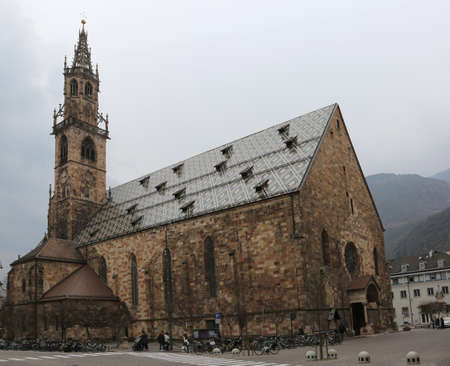 Bolzano BZ Italy the big Dome with high bell Tower