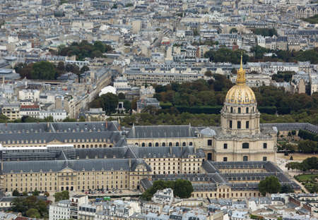 Les Invalides also called Hotel national des Invalides in a most famous monumet in Paris France
