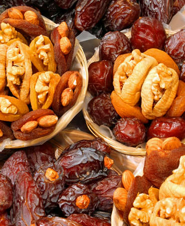 dried apricots and figs and other dried fruits stuffed with walnuts for sale