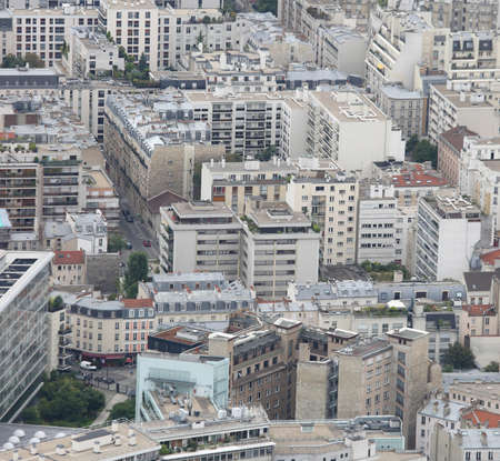 Aerial view of many buildings and houses of a city Editorial