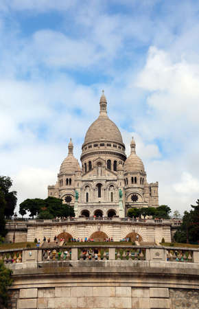 Basilica of Sacred Heart at Montmartre district in Paris in France