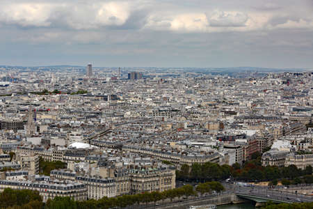 panorama of the city of Paris from the Eiffel Tower