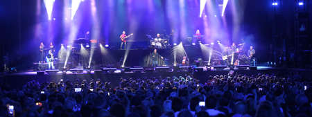 Verona, VR, Italy - September 23, 2018: Live Concert at Verona Arena of ANTONELLO VENDITTI a famous Italian singer-songwriter