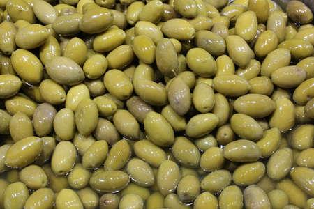 background of green mediterranean olives