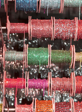 shiny reels to make necklaces for sale 스톡 콘텐츠