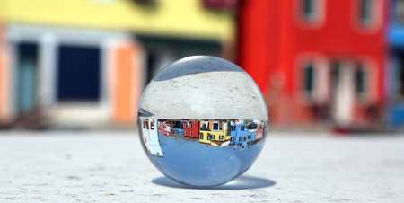 big crystal ball in Burano Island near Venice in Northern Italy
