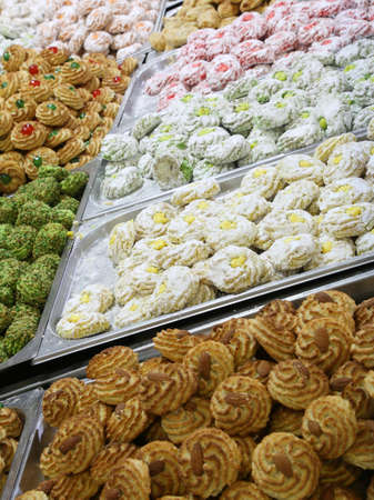 many italian biscuits for sale in the pastry shop