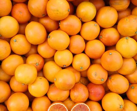 24 Mega Pixel Background of Ripe Oranges for sale at market