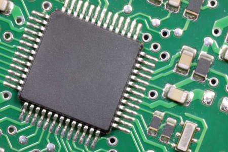 macro of microchip of a high-tech electronic circuit