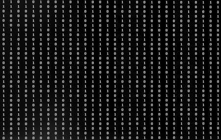 Numbers One and Zero of binary code  on the pc monitor Stok Fotoğraf