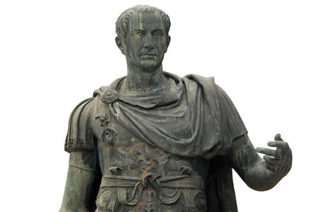 statue of Julius Caesar Dictator of the Roman Republic in Rome Italy
