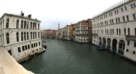 Grand Canal is the major waterway in Venice Island from Rialto Bridge