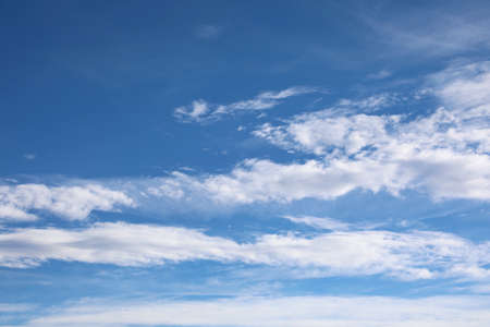 background of blue sky and more white clouds Banco de Imagens