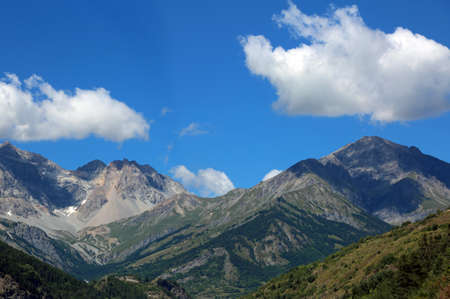 European Alps Mountain in the border between Italy and France