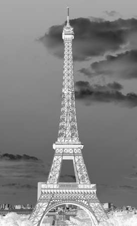 Simulation of X Rays of Eiffel Tower in Paris France