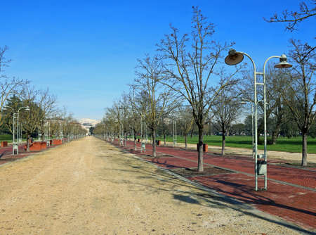 public park called CAMPO MARZO in the city of Vicenza in Italy Imagens