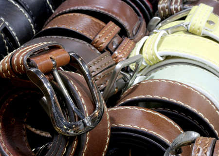 leather belts for sale in the artisan workshop