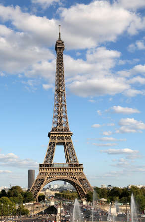 Great View of Eiffel Tower from Trocadero Area in Paris France