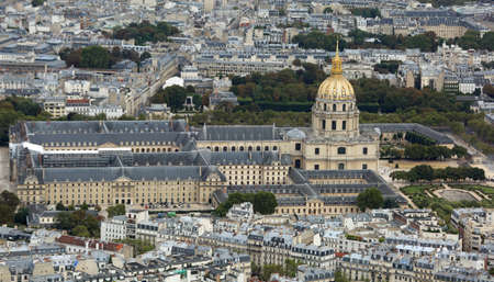 Monumental Memorial of Napoleone Bonaparte with Golden Dome called Les Invalides in Paris France