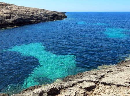 Fantastic Mediterranean sea with light blue water in summer