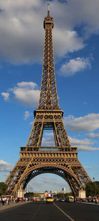 Tall Eiffel Tower in Paris in Vertical Format