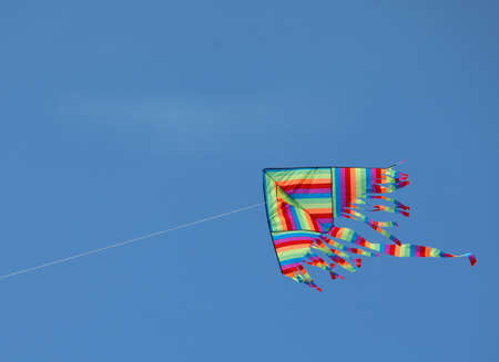 blue sky and a big kite in summer