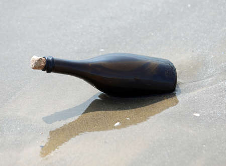 message in a bottle by the sea