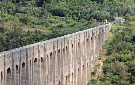 fantastic view of Caroline aqueduct also called Aqueduct of Vanvitelli near Caserta City in Southern Italy