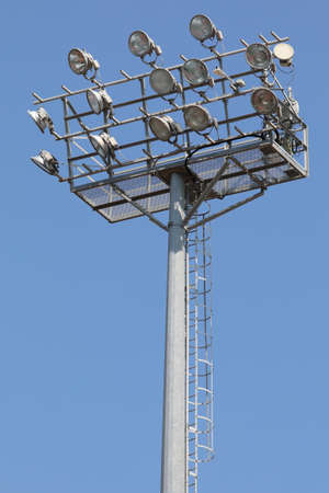 many floodlights in the pole at stadium