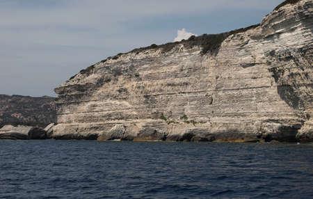 view of bonifacio Cliffs in Corsica Island 版權商用圖片