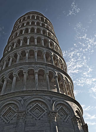 Pisa Tower with high dynamic range effect in Tuscany Italy Stockfoto
