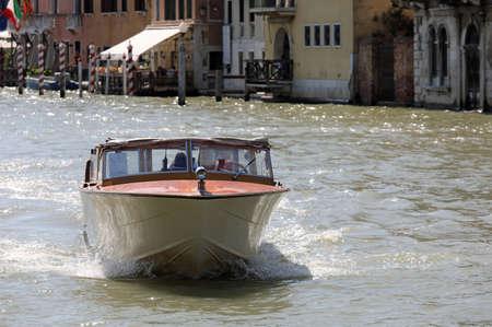Taxi boat in Venice Island in Italy