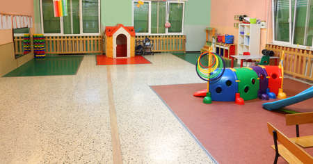 large nursery games room without children Banque d'images - 131757013
