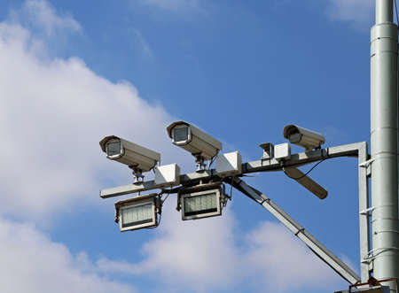 cams of autovelox system with special lights