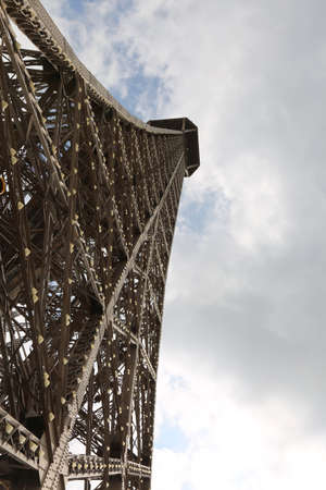 Incredible view of Eiffel tower from below in Paris France