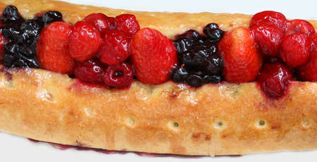 cake with fruits called Strudel typical of Central Europe