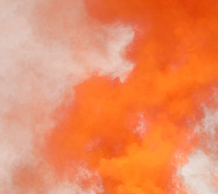 abstract background with dense orange toxic smoke 写真素材