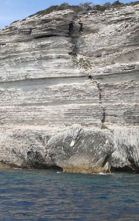 Rocks and Cliffed Coast and the Mediterranean Sea in Corsica Island