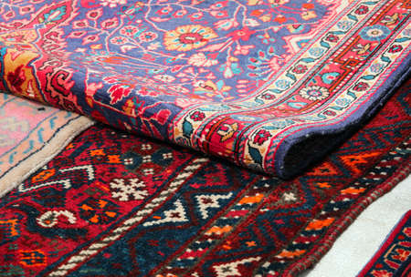 Rug and Carpet for sale at outdoor market