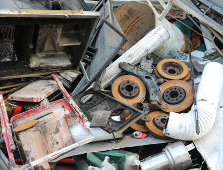ferrous material in the collection center to recycling