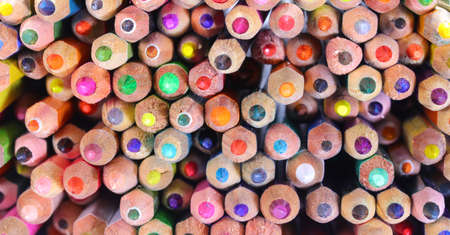 background of group of colored pencils at school Stock fotó
