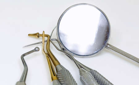 Dentist medical equipment for the removal of tartar and tooth cleaning Zdjęcie Seryjne