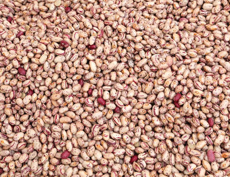 background of dried beans for sale in the vegetable market