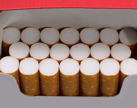 many cigarettes in a packet just opened by the avid smoker